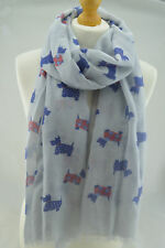 NEW womens westie Terrier dog Print Scarf designer Fashion scarves Shawl Wrap UK