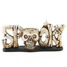 Skull Head Tealight Candle Holder Tabletop Halloween Bar Decor Gift 2 Colors