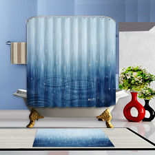 Water ripples Shower Curtain Waterproof Polyester Bathroom Bath Home Free Rings