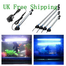Aquarium Fish Tank Waterproof Blue LED Light Bar Submersible Multi Length HT