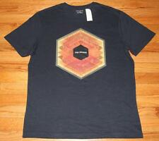 NEW NWT Mens Banana Republic Graphic Logo Tee T-Shirt Stay Focused Hexagon *3N