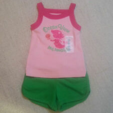 NEW Carter's baby girls outfit pink green Mermaid top shorts size 6 or 18 months