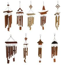 Rustic Bamboo Tube Wind Chimes Mobile Windchime Church Bell Hanging Decor Pick