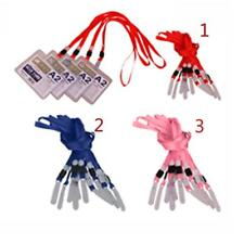 10x Polyester Lanyard ID Badge Key Holder Case Neck Strap Cord With PVC Hook