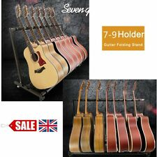 Chord 7/9-Way Multi Guitar Stand Foldable Acoustic Electric Bass Guitar Rack UK