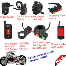 Motorcycle Motorbike Handlebar Headlight Fog Spot Light On Off Switch LOT~QR