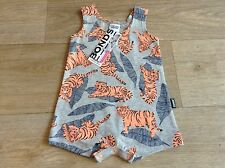 NWT Bonds Baby Stretchies Le Tiger Summer Chesty Suit  Size 000-2 RRP$19.95