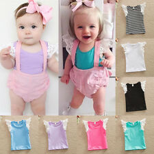 Infant Toddlers Kids Cotton T-Shirt Baby Girls Princess Lace Sleeve Blouse Tops