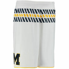 adidas Michigan Wolverines White Premier Basketball Shorts - College