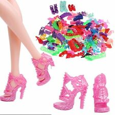 10/20/40 Pairs Fashion Assorted Multiple Styles High Heel Shoes For Barbie Doll