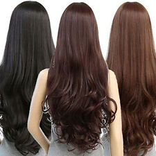 WOMEN LOLITA CURLY WAVY LONG FULL WIG HEAT RESISTANT COSPLAY PARTY HAIR EARNEST