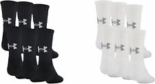 Under Armour Boys Charged Cotton 2.0 Crew Socks (6 Pack), 2 Colors
