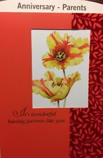 PARENTS MOM & DAD ANNIVERSARY MOTHER FATHER GREETING CARD HALLMARK CHOICE OF 12