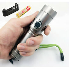 UltraFire CREE XML T6 LED Flashlight Torch Light 2000Lm Zoomable 18650 AAA Lamp