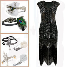 1920 Flapper Dress Vintage Gatsby 20s Night Evening Cocktail Dresses Plus Size