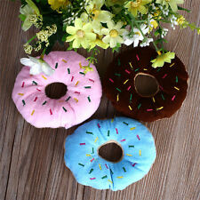 Hot  Lovely Pet Dog Puppy Cat Squeaker Quack Sound Toy Chew Donut Play Toys 1pcs