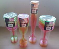 Coloured Neon Plastic Party Glasses 6 Pack Wine Champagne Cocktail Martini Cheap