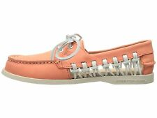 Sperry Top-Sider Women (STS95546) A/O Haven Boat Shoes Leather Coral Size 9 new