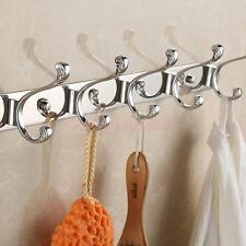 Durable 3-6 Hook Wall Hanger Coat Hat Clothes Robe Holder Bedroom Towel Rack