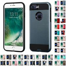 For Apple iPhone 7 [4.7] Brushed Hybrid Impact Armor Shockproof Hard Case Cover