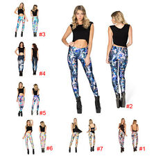 Punk Sexy Women 3D Print Leggings Stretchy Jeggings Skinny Tight Pencil Pants US