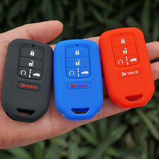 Silicone rubber key fob cover for Honda Pilot Accord Civic CRV 5 button keyless