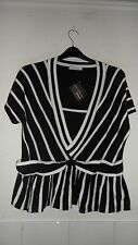 KALEIDOSCOPE SIZE 14 SIZE 16 SIZE 18 SIZE 20 BLACK & WHITE KNITTED LADIES TOP