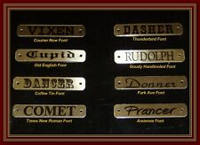 Horse Halter Brass Custom Name Plates Bridle Tags ID w Chicago Screws 5/8 x 3.5