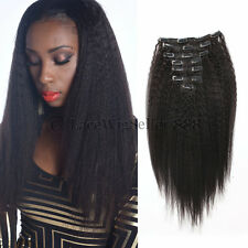 Clip In Human Hair Extensions 100g/set Natural Black 14 to 22 inch Available
