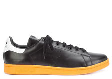 ADIDAS BY RAF SIMONS SHOES STAN SMITH SNEAKERS ATHLETIC BLACK/ORANGE #BB2647