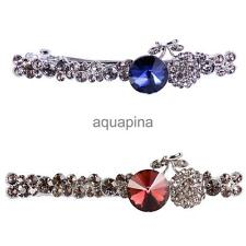 Sweet Full Crystal Sapphire Ruby Hair Clip Barrette Clamp Girls Accessory Gift
