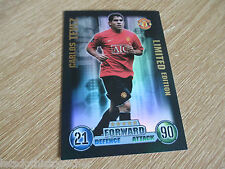 Match Attax Attack 2007-08 2007-2008 Carlos Tevez Limited Edition 07/08