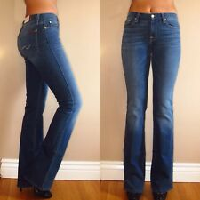 $189 Seven 7 For All Mankind Karah Fitted Bootcut High-Rise Jeans Medium 24-28