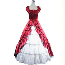Victorian Belle Prom Dress Princess Ball Gown Theater Reenactment Party Clothing