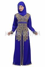 DUBAI TAKSHITA KAFTAN GEORGETTE HAND EMBROIDERY JILBAB ARABIAN DRESS 5765
