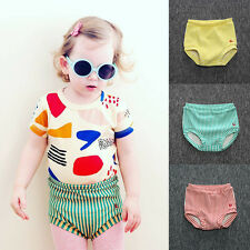 Infant Baby Girl Boy Harem Pants Toddler Trousers Cotton Striped Shorts Bottoms