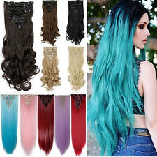 S-noilite Hair Extensions Full head Clip in Hair Extension Extention 18Clip nc28