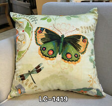 Decorative Velvet Pillow Cushion Cover Butterfly and Dragonfly Pillow Cases