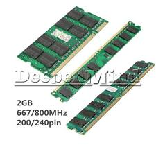 2GB Memory RAM DDR2 PC6400 PC2-5300/U 667/800MHZ 200/240Pin Desktop PC Memory