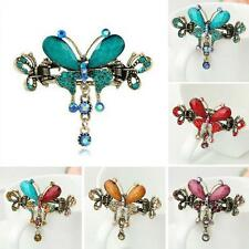 Rhinestone Bow Knot Retro Hairpin  Hair Clip Crystal Butterfly