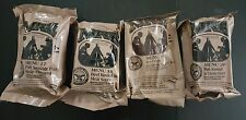 """Lot of 4 Military """"Meal Ready To Eat"""" (MRE) Military Issue Field Ration"""