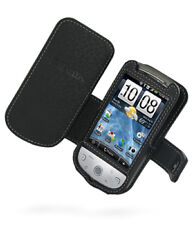 PDair Black Leather Book-Style Case for HTC Hero Sprint