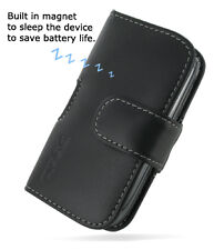 PDair Black Leather Horizontal Pouch for BlackBerry Torch 9800