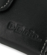 PDair Black Leather Horizontal Pouch for LG Arena KM900