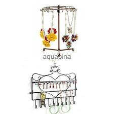 New Wall Hanger or Rotating Necklace Bracelet Jewelry Display Holder Rack Stand