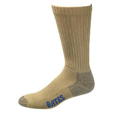 Bates Cotton Comfort Army Brown 3 Pk Socks Made in USA