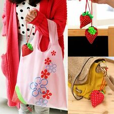 Cute 8 Colors Foldable Shopping Tote Bags Reusable Bag Strawberry Eco Handbag