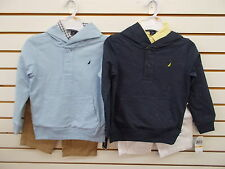 Boys Nautica $59.50 3pc Blue or Navy Light Weight Hoodie/Shorts Sets Size 4 - 7X