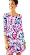 New Lilly Pulitzer UPF 50+ SOPHIE DRESS MULTI PSYCHEDELIC SUNSHINE Pink Blue S
