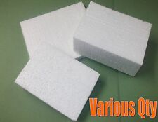 WHITE POLYSTYRENE BLOCKS PACKING PACKAGING CARTON VARIOUS SIZES